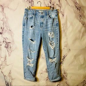 Pacsun destroyed high waist mom jeans sz 30